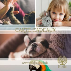 Carte cadeau Animal - Reiki Soins Côtes d'Armor