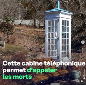 La cabine blanche du téléphone à vent au japon qui permet d'appeler les personnes décédées - Wind phone - Reuters - Loppsider